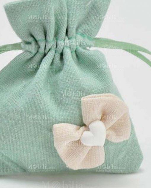 dettaglio sacchettino verde