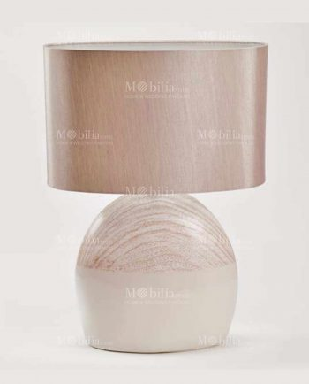 Lampada da Tavolo Moderna Ceramica color tortora