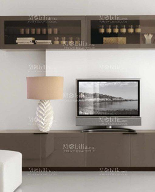 lampada da tavolo moderna con decori a spina di pesce gallery
