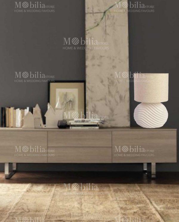 Lampada da Tavolo Moderna Ceramica ovale