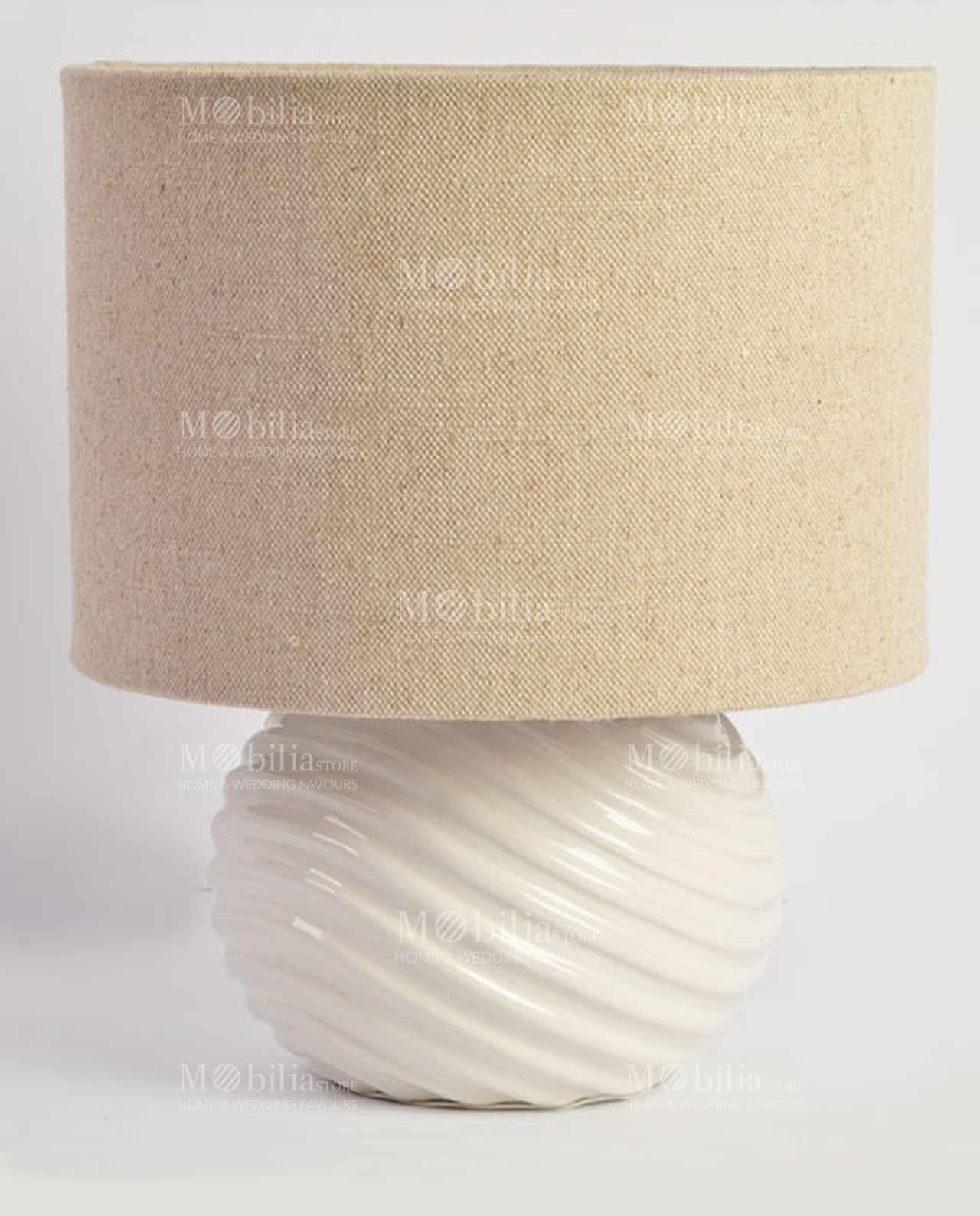 Lampada da Tavolo Moderna Ceramica rotonda- MobiliaStore