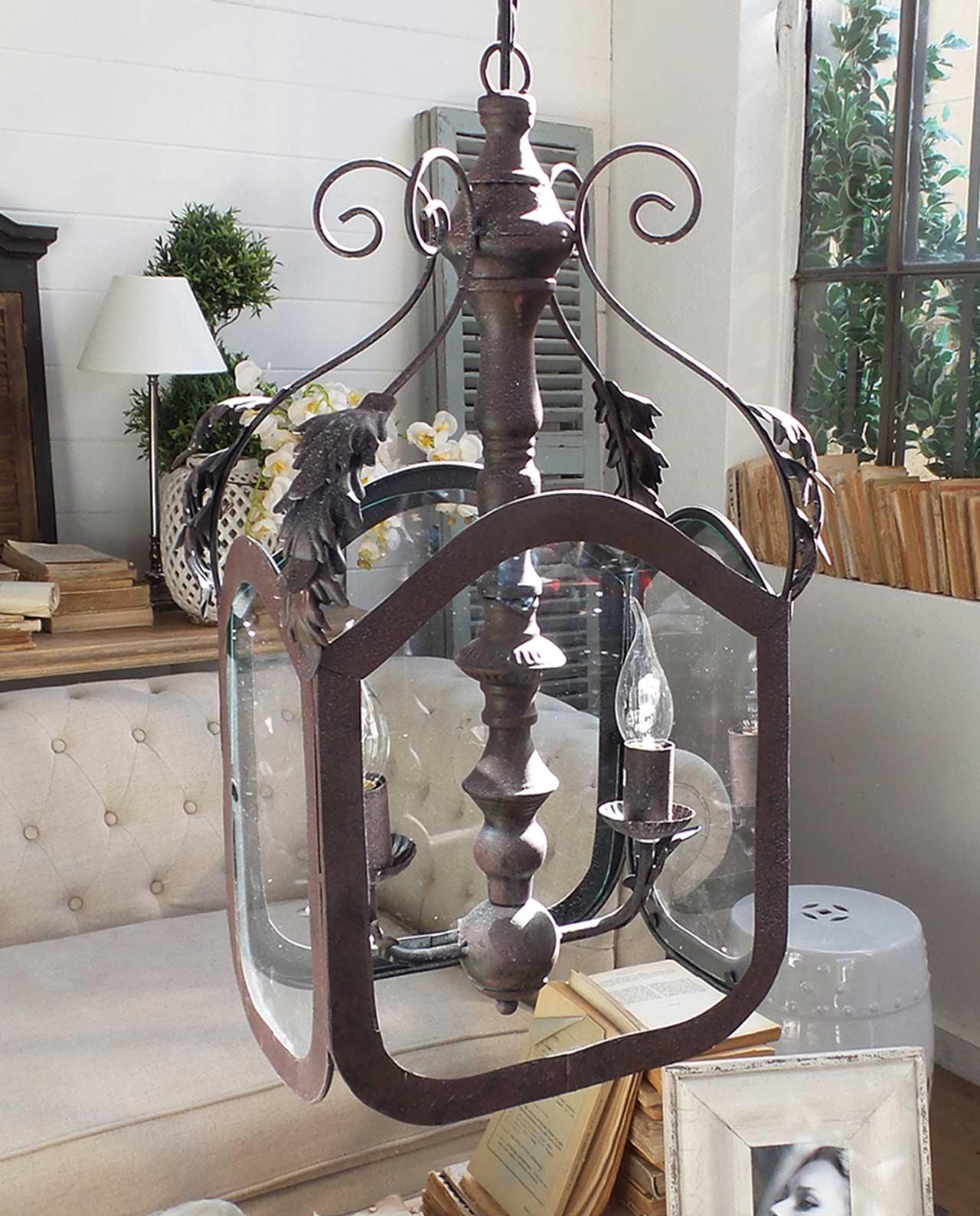 Lampadario stile vintage in metallo 2 luci mobilia store for Mobilia recensioni