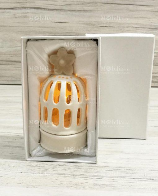 lanterna ceramica con scatola