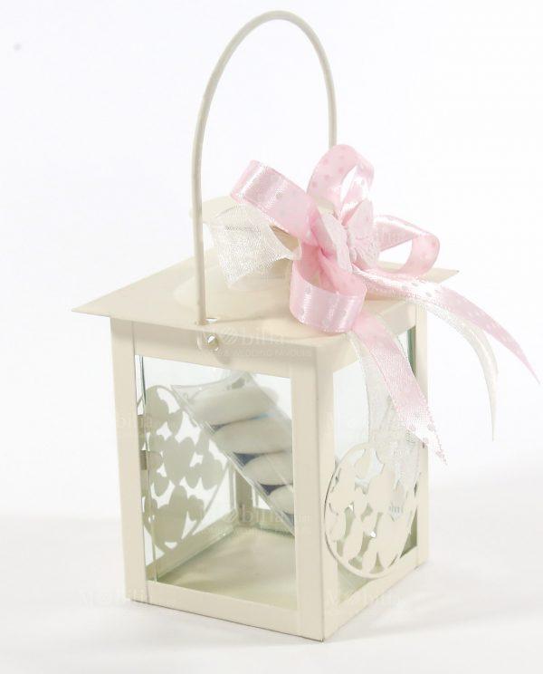 Bomboniere Comunione Lanterne per Candele con Farfalla