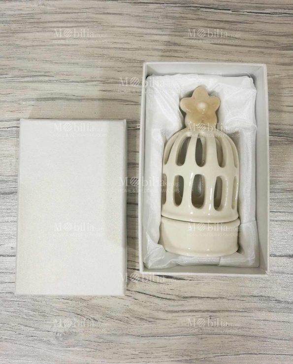 Bomboniere Matrimonio Lanterna Gabbietta Ceramica