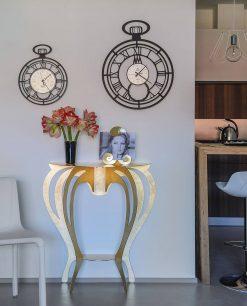 orologio cipollone consolle ballerina colore oro arti e mestieri