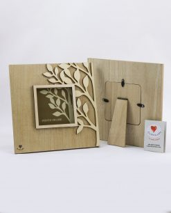 retro portafoto albero della vita legno cuoregaio