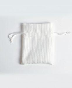 sacchetti portaconfetti raso cotone bianco