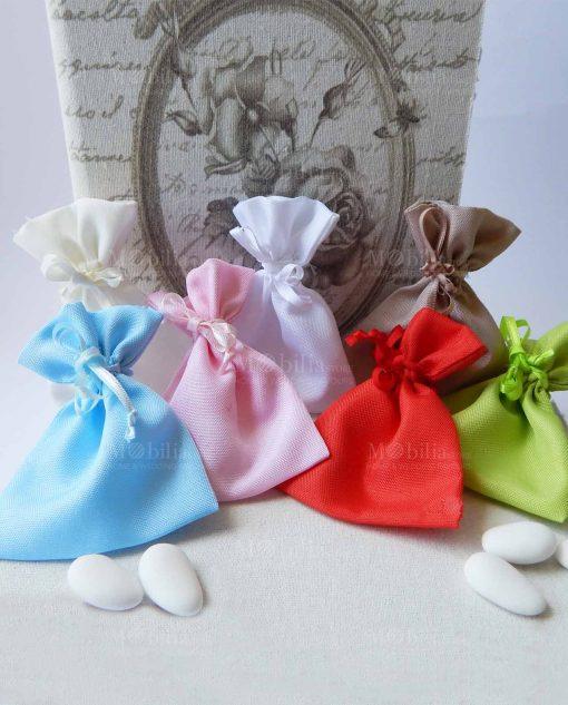 sacchettini portaconfetti colorati