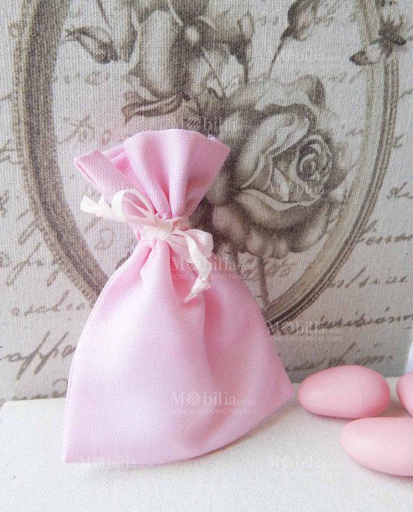 Sacchetti Portaconfetti Cotone Rosa Economici