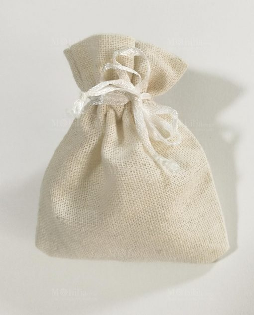 sacchettino panna con tirante e fiocco