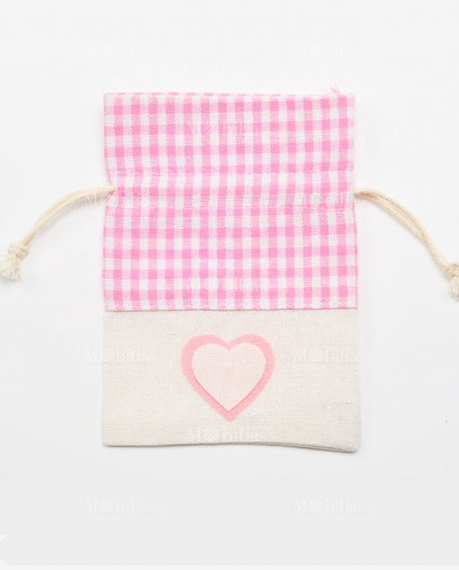 sacchettino rosa fai da te min