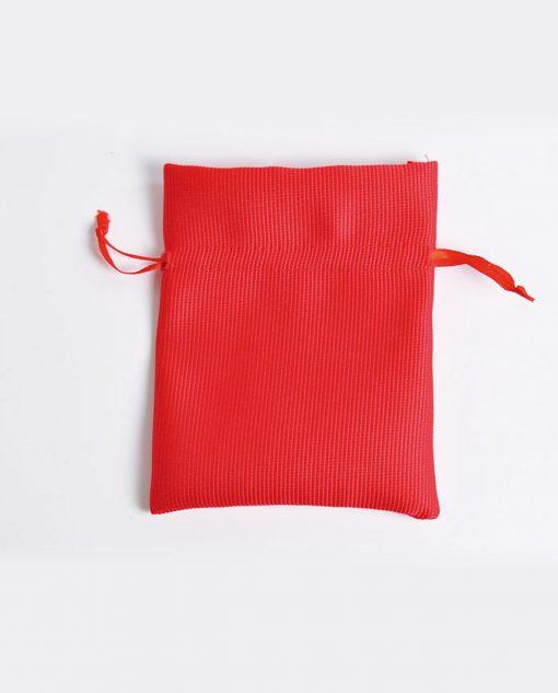 sacchetto portaconfetti raso rosso grande