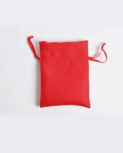 sacchetto portaconfetti raso rosso piccolo