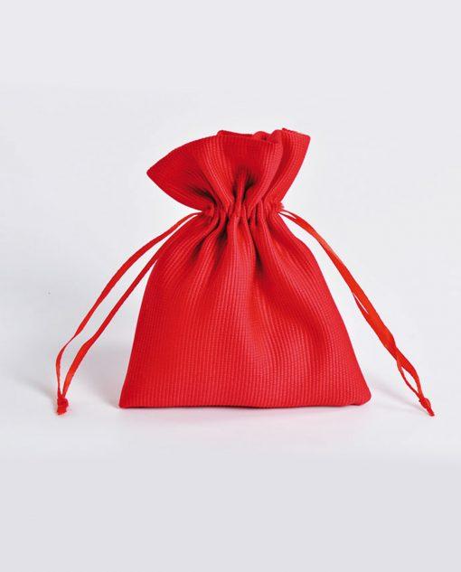 sacchetto raso rosso grande