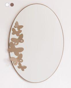 specchio modello butterfly storm colore beige arti e mestieri