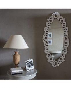 specchio modello nastri foto ambientata arti e mestieri