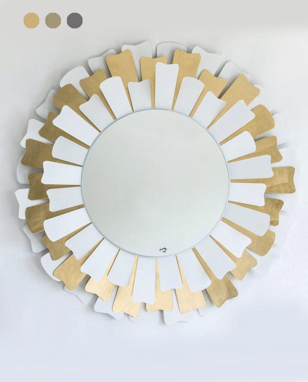 specchio rotondo con raggi