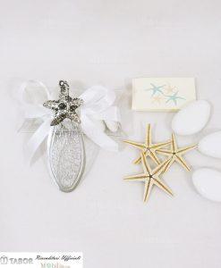 segnalibro con stella marina argento tabor su tubicino