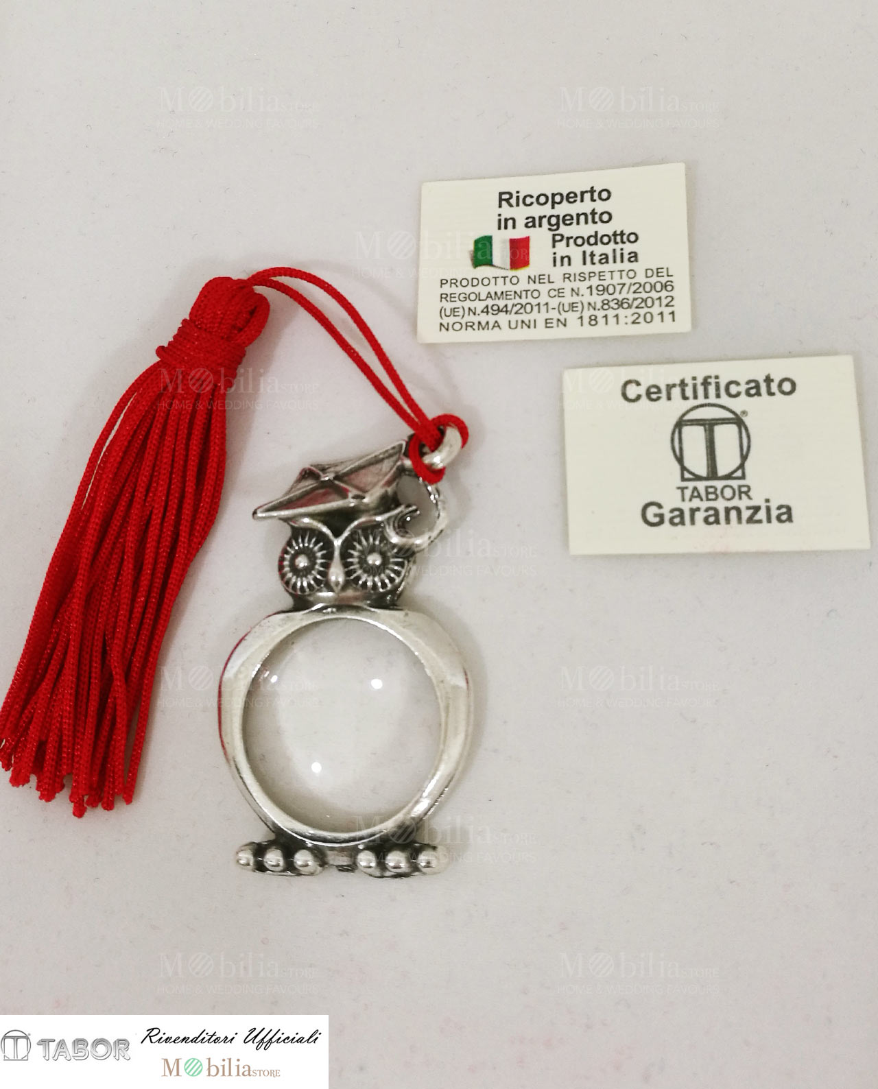 Bomboniera sacchettino con ciondolo lente d 39 ingrandimento for Mobilia wedding