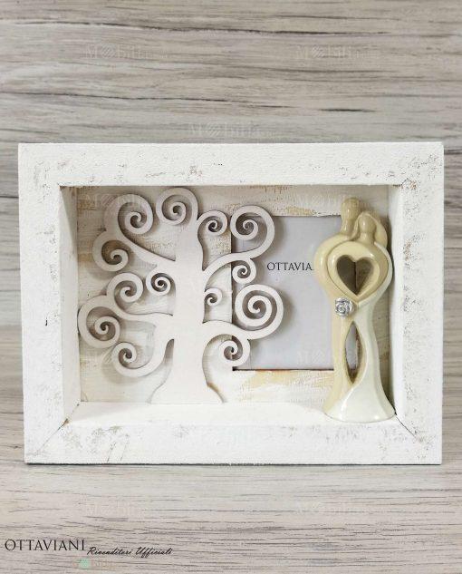 Portafoto legno Albero della vita con sposini Ottaviani