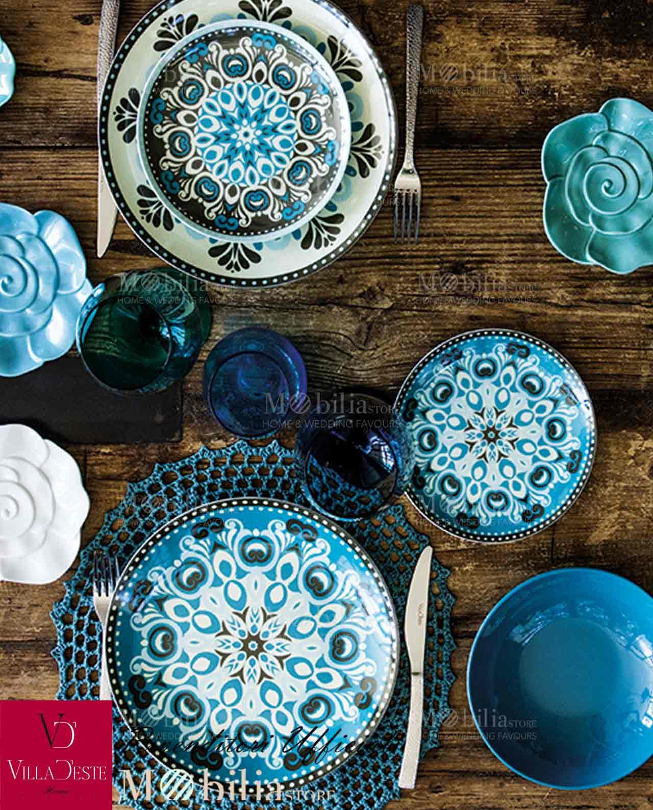 Servizio piatti cala jondal villa d este 18 pezzi for Servizio di piatti