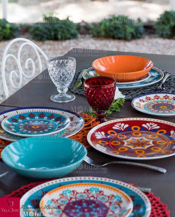 Servizio Piatti Porcellana Shiraz Villa D'Este