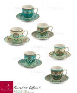 Set tazzine caffè infrangibile CALA JONDAL villa d'este