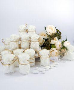bomboniera vasetto vetro con sacchetto