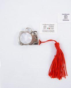 ciondolo borsa dottore lente dingrandimento con nappina rossa