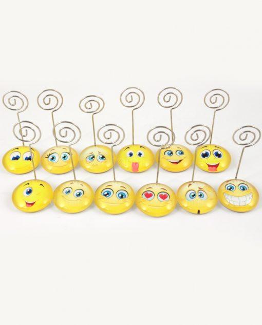 Faccine Smile Memoclip Portafoto Bomboniere Compleanno o Nascita