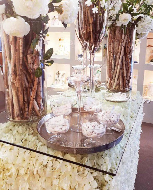 Allestimento Matrimonio Pannelli Decorativi Fiori Ortensie Bianche