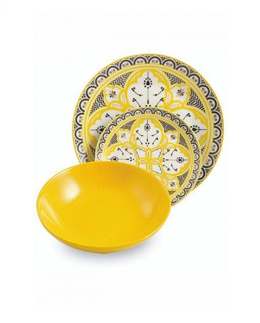piatto giallo marocco