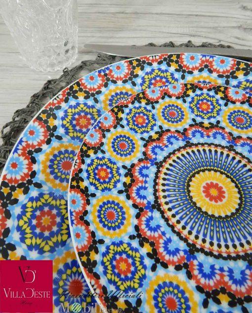 Servizio Piatti Colorati Porcellana Marrakech Villa D'Este