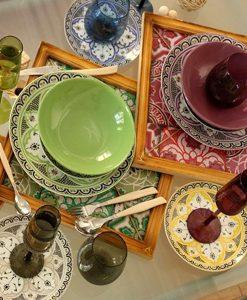 Brandani set 4 piatti moderni granaglie tortora - Maniglie porcellana cucina ...