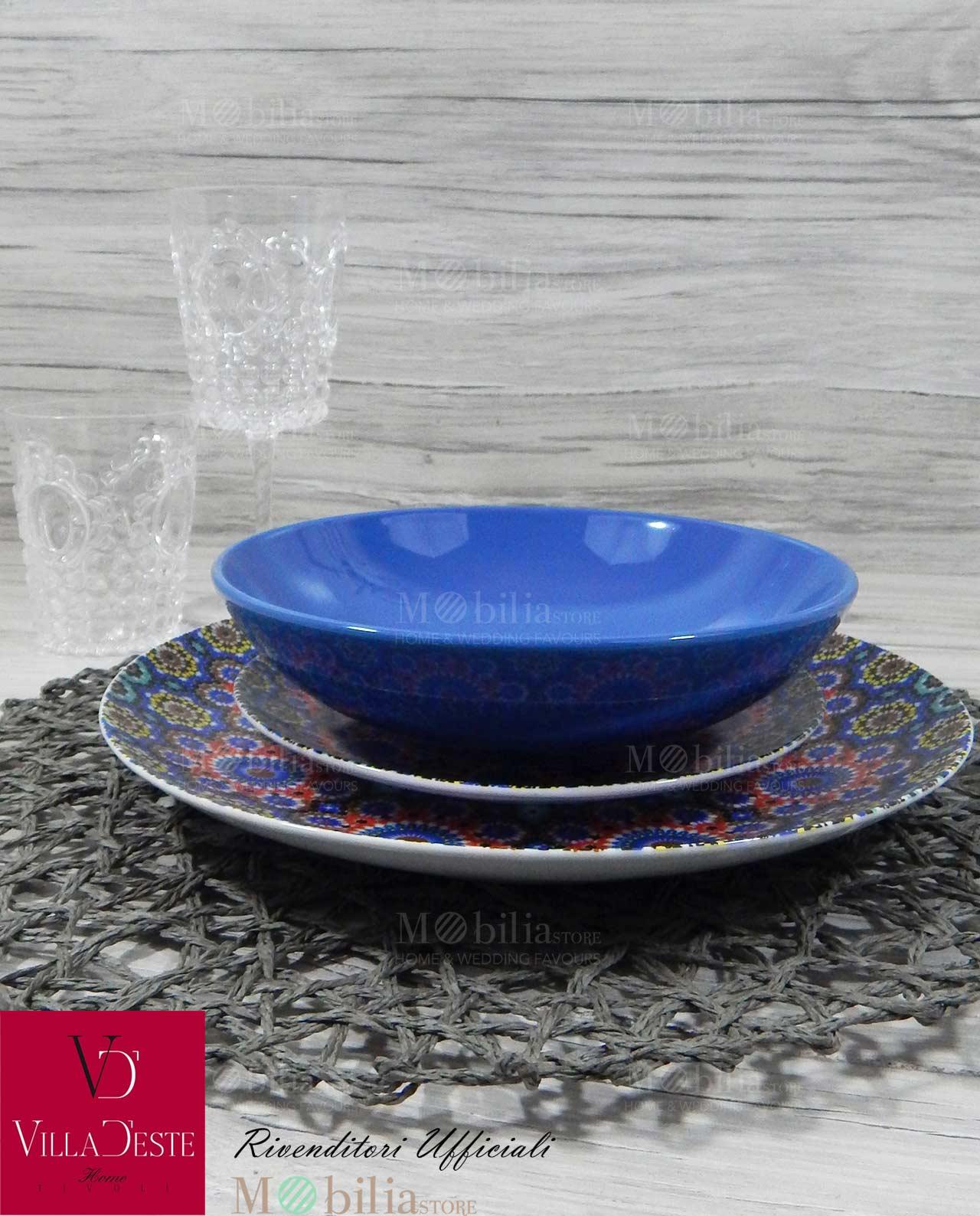 Servizio piatti villa d este marrakech 18 pz mobilia for Servizio di piatti