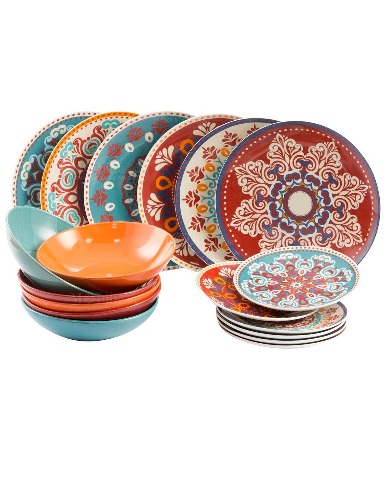 Servizio piatti Villa D\'Este Shiraz 18 pz - Mobilia Store Home & Favours