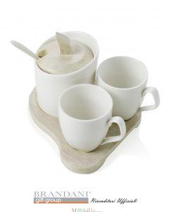 set caffe ceramica e bamboo