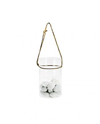 Vasetti di Vetro con Cuore e Cordoncino per Confettata Matrimonio