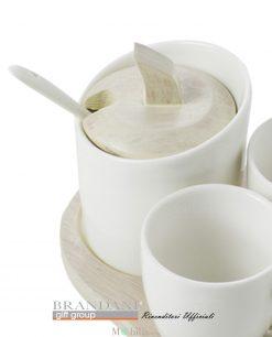 zuccheriera porcellana e bamboo brandani