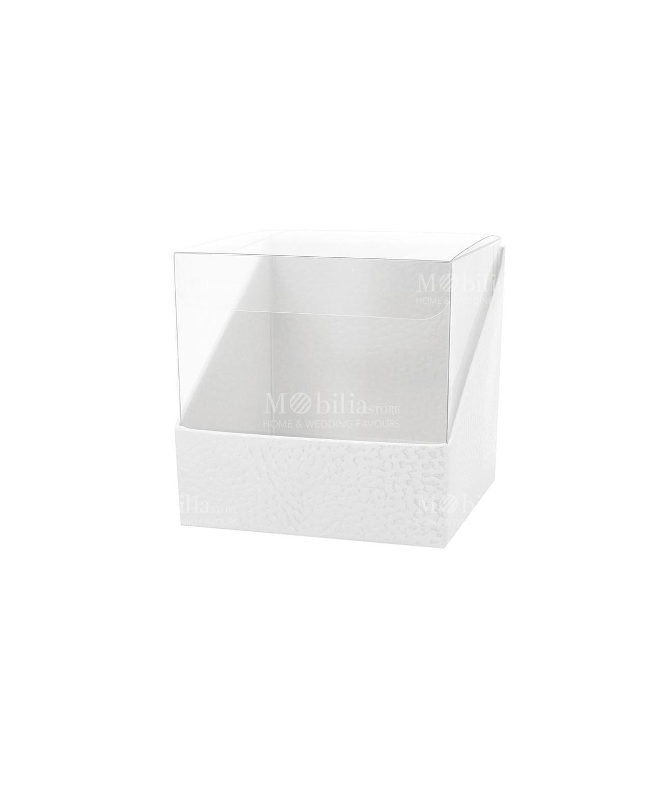 Scatole Trasparenti Con Base Cartoncino Martellato Set 10 Pz Varie