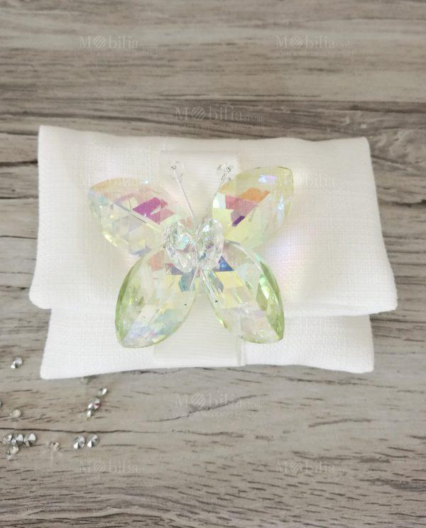 Farfalla Swarovski Verde Bomboniere Tufano