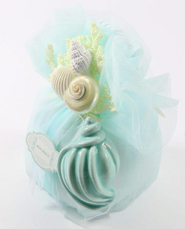 Sacchetti Matrimonio con Conchiglie Capodimonte e confetti Rdm