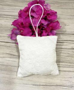 Cuscino Portaconfetti con Decorazione Floreale Shabby Chic