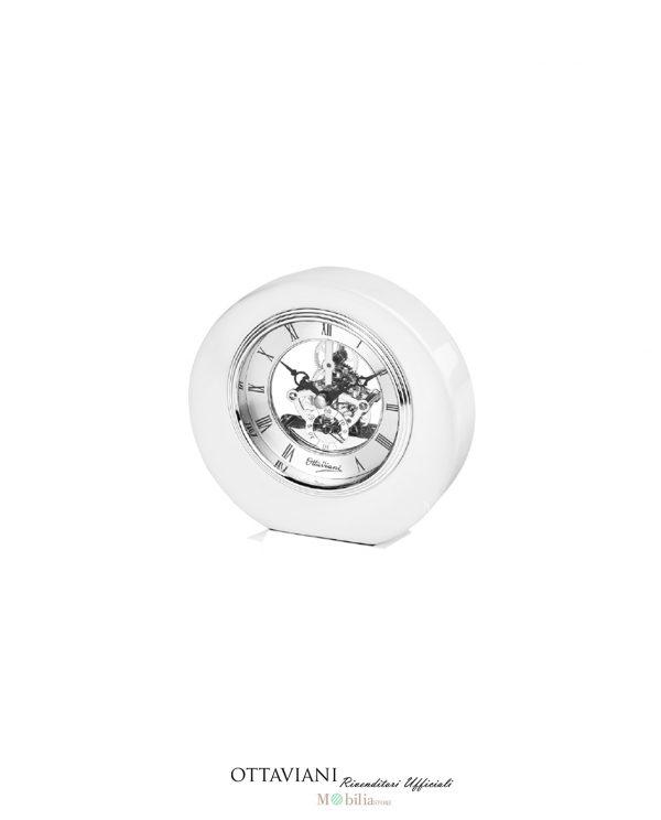 Ottaviani Orologio da tavolo Piccolo Legno laccato Bianco