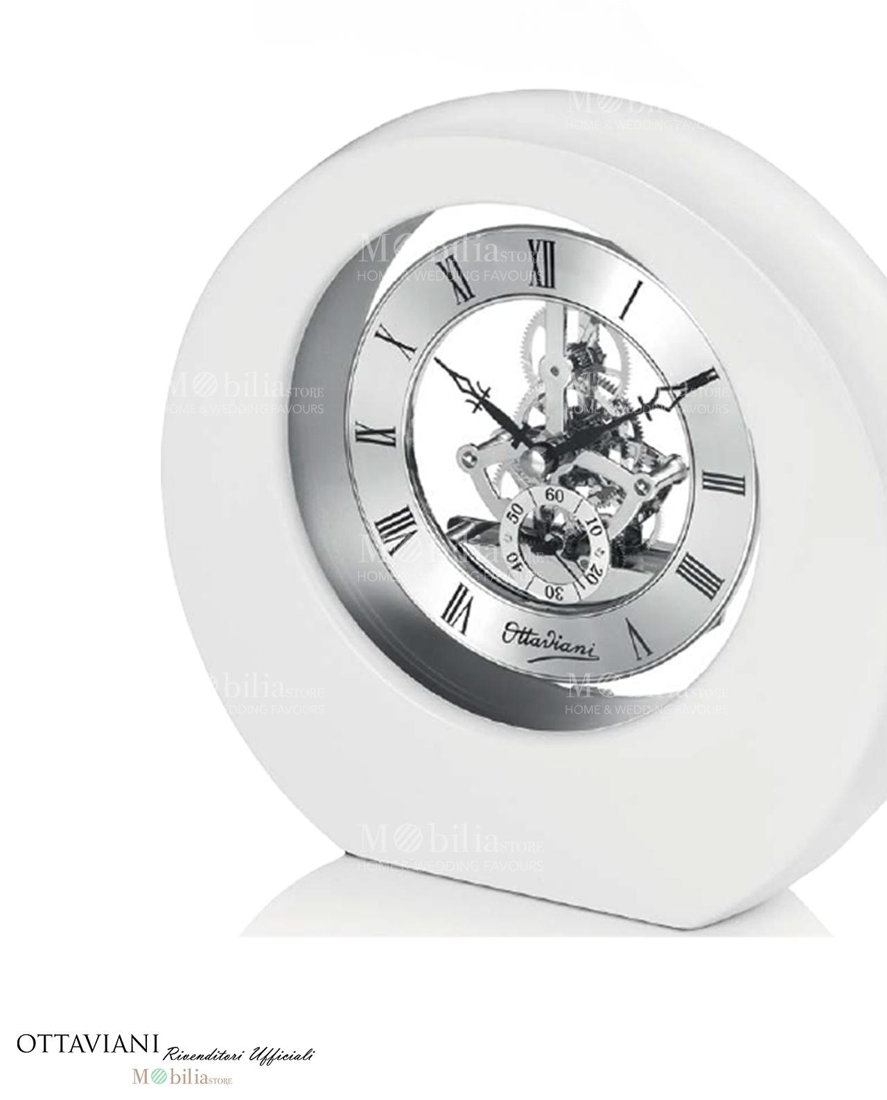 Orologio da tavolo grandi legno laccato bianco ottaviani - Ottaviani orologio da tavolo ...