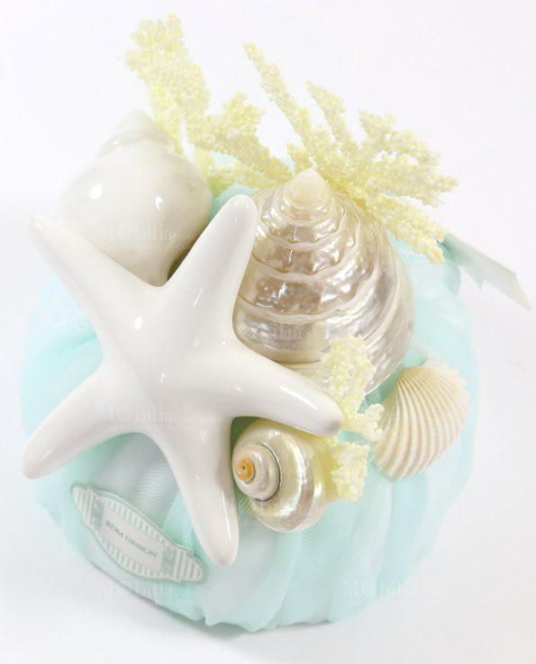 Sacchetti Bomboniere Matrimonio con confetti e Stella Marina Rdm