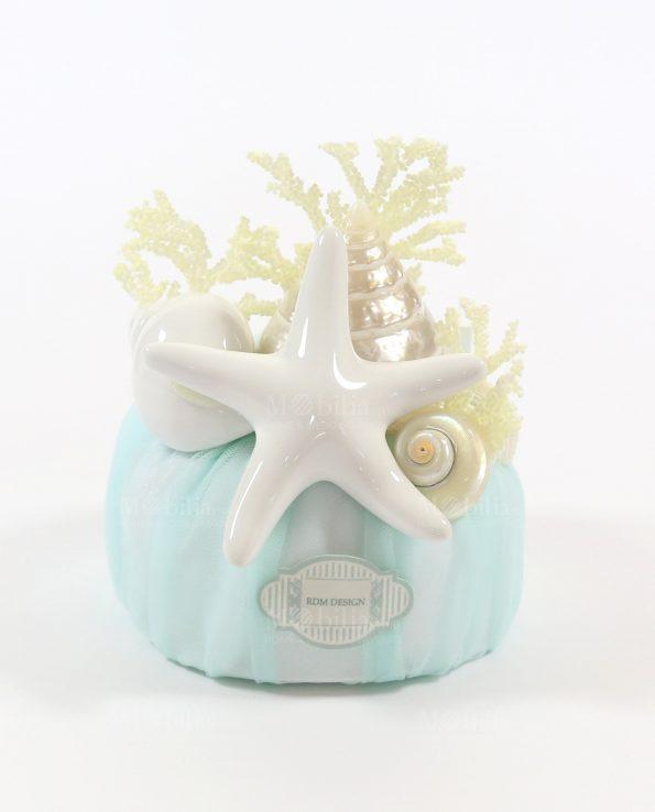 Sacchetti Bomboniere Matrimonio con confetti e Stella Marina Rdm-Sacchetti Comunione Cresima Stella Marina e Confetti Rdm Design