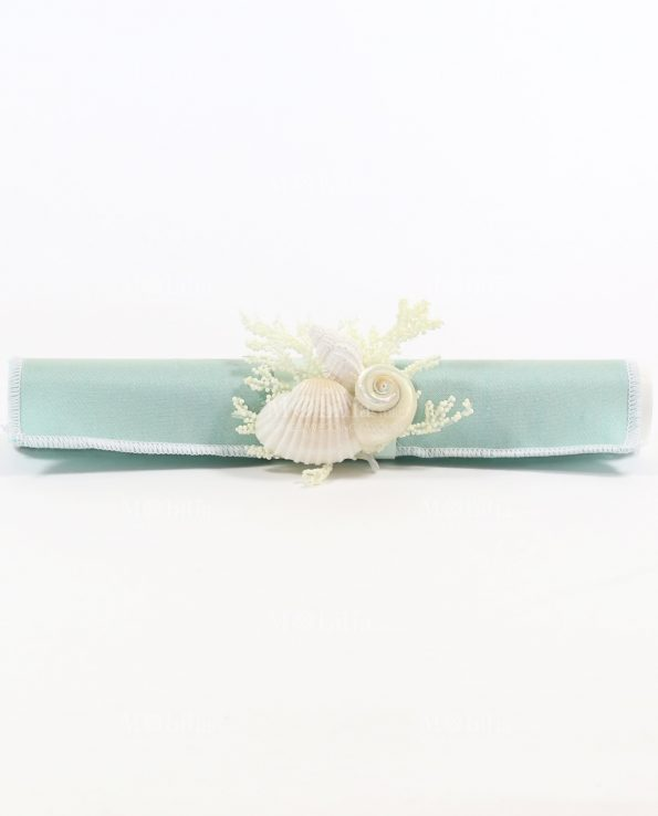 Partecipazioni Matrimonio Tema Mare Pergamena Tessuto Tiffany Rdm