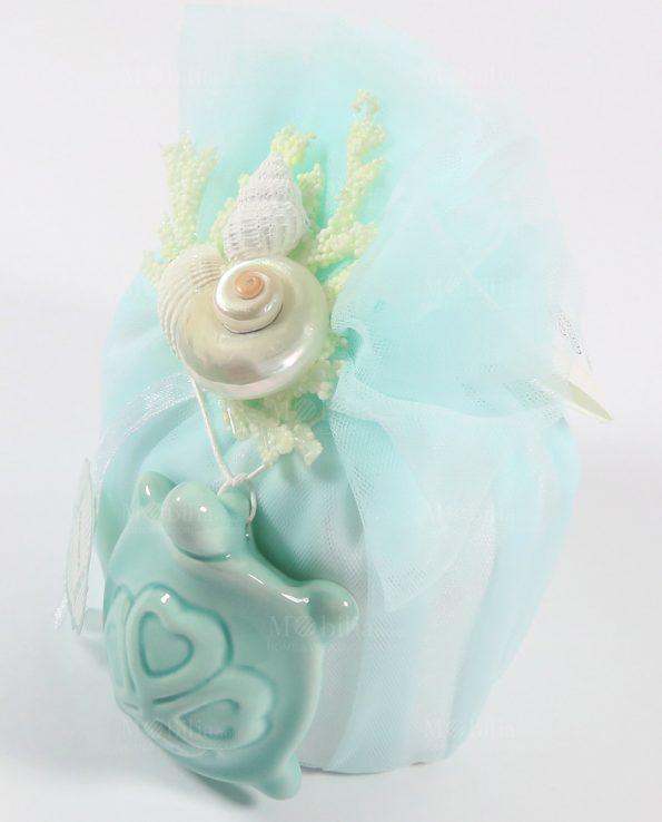 Sacchetti Bomboniere Matrimonio con confetti e Tartaruga Rdm